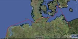 1.ETAP 1 - 700 Nm Szczecin - Amsterdam, p.Kopenhage