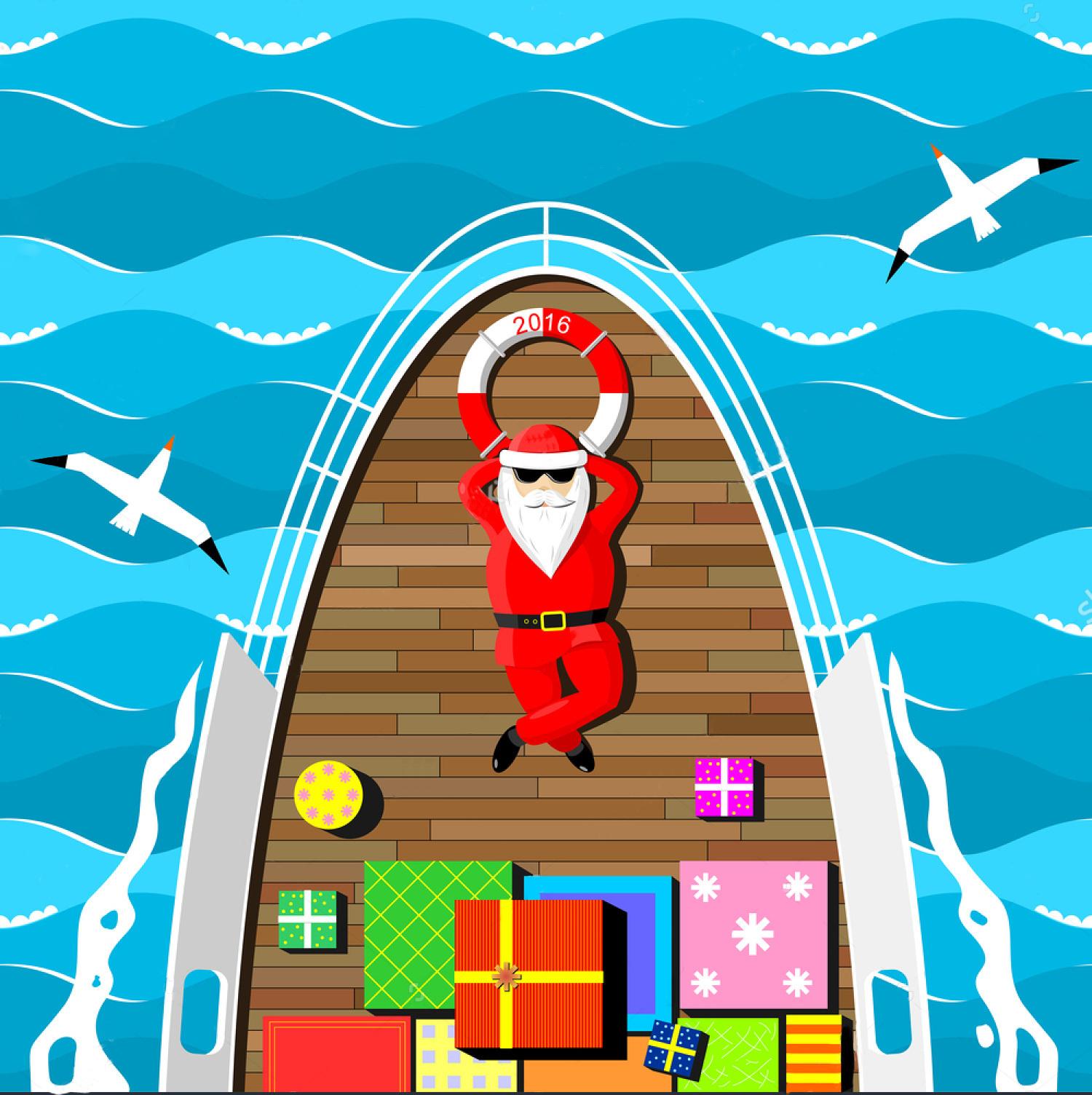 mikołaj na łódce